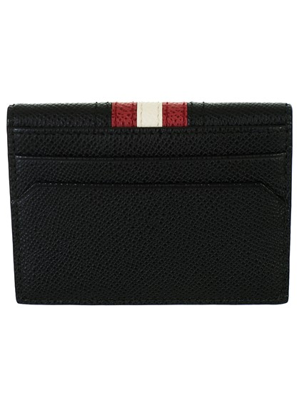 BALLY BLACK CARRYOVER CARD HOLDER