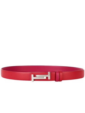 TOD'S - RED AND FUCHSIA BELT