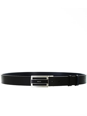 BALLY - BLACK AND BLUE CARROVER BELT
