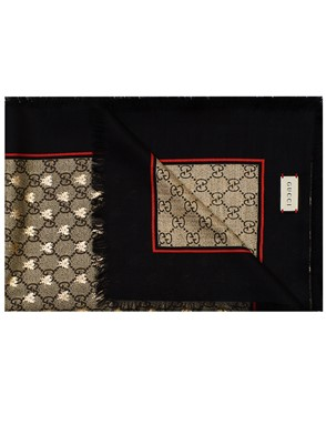 GUCCI - BLACK AND BROWN FOULARD