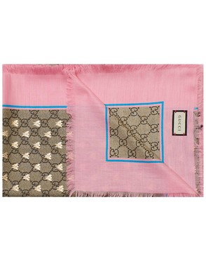 GUCCI - PINK AND BROWN FOULARD