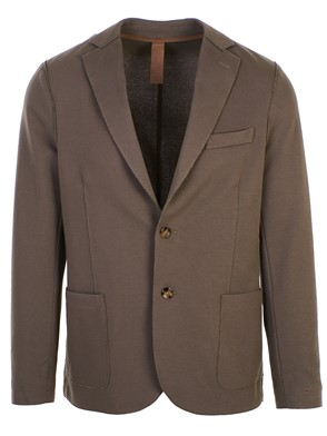 ELEVENTY - DARK BROWN RAW-CUT BLAZER