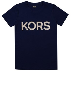 MICHAEL KORS - NAVY LOGO T-SHIRT
