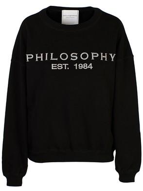PHILOSOPHY BY LORENZO SERAFINI - BLACK PHILOSOPHY LOGO SWEATSHIRT