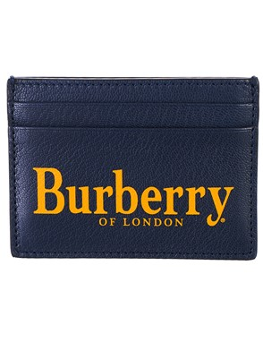 BURBERRY - PORTACARTE BLU END GREEN