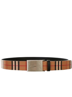 BURBERRY - CHECK LOGO BLACK BELT