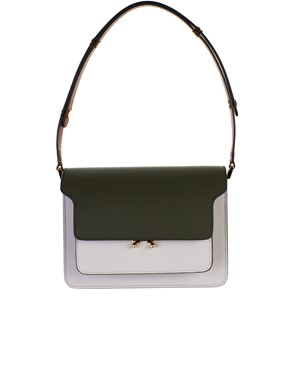 MARNI - BORSA TRUNK MULTICOLOR VERDE