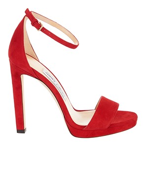 JIMMY CHOO - RED MISTY SANDALS