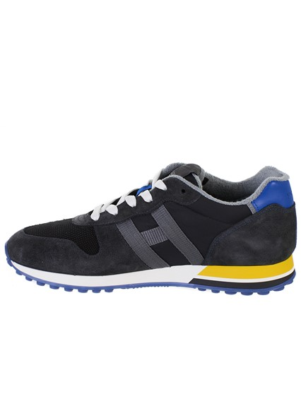 HOGAN BLACK RETRO-RUNNING SNEAKERS