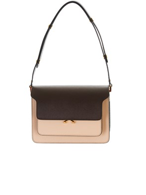 MARNI - BORSA TRUNK MARRONE