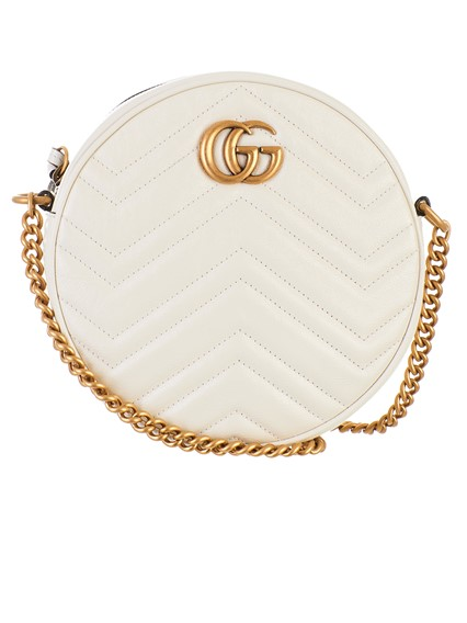 7109c43bbdf16 gucci WHITE ROUND GG MARMONT BAG available on lungolivigno.com - 27630
