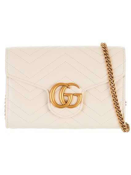 18c11f6a296f gucci WHITE MINI GG MARMONT BAG available on lungolivigno.com - 27632