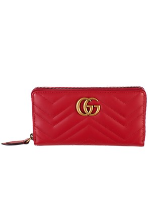 GUCCI - RED GG MARBLE WALLET