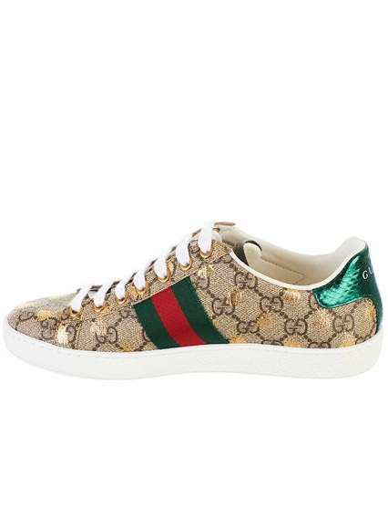 9f7ed6ee407 gucci BEIGE GG SUPREME BEES SNEAKERS available on lungolivigno.com ...
