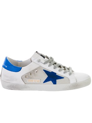 GOLDEN GOOSE DELUXE BRAND - WHITE AND SILVER SUPERSTAR SNEAKERS