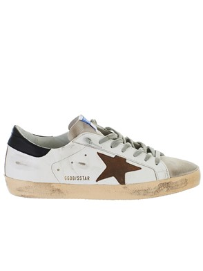 GOLDEN GOOSE DELUXE BRAND - SNEAKERS SUPERSTAR WHITE/CUOIO