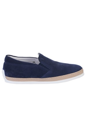 TOD'S - SLIP-ON SUEDE NAVY