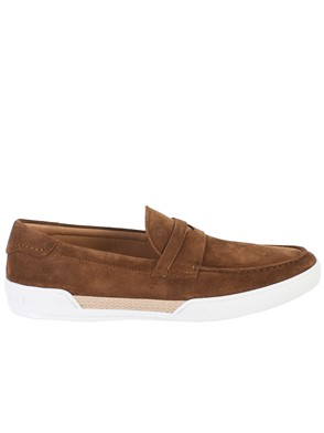 TOD'S - SLIP-ON RIVIERA SUEDE TABACCO