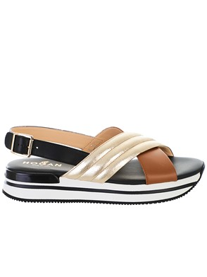 HOGAN - BLACK H257 SANDALS