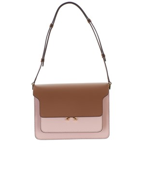 MARNI - BORSA TRUNK MULTICOLOR MARRONE