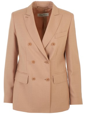 MAX MARA - PINK DOUBLE-BREASTED BLAZER