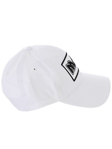 3b39cabf349d7 mcq by alexander mcqueen WHITE METAL BASEBALL CAP available on ...
