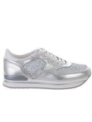 HOGAN - WHITE AND SILVER SNEAKERS