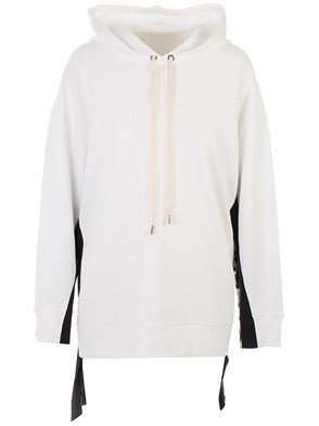 STELLA MC CARTNEY - WHITE HOODED SWEATSHIRT