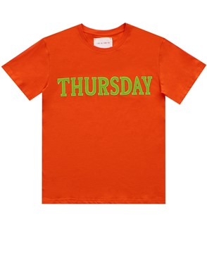 ALBERTA FERRETTI - ORANGE RAINBOW WEEK T-SHIRT