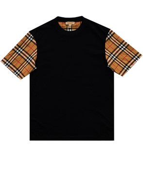 BURBERRY - BLACK SERRA T-SHIRT