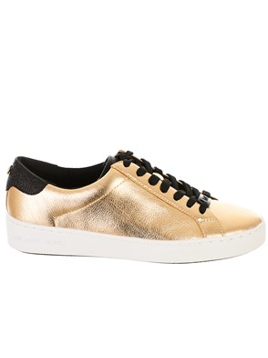 MICHAEL KORS - SNEAKER IRVING LACE UP ORO