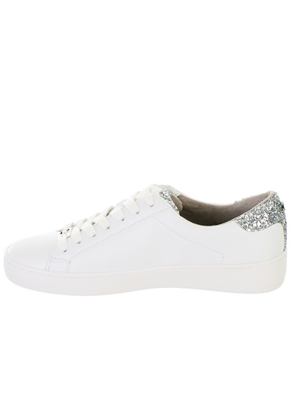55d6ef845d3e michael michael kors WHITE IRVING LACE UP SNEAKERS available on ...