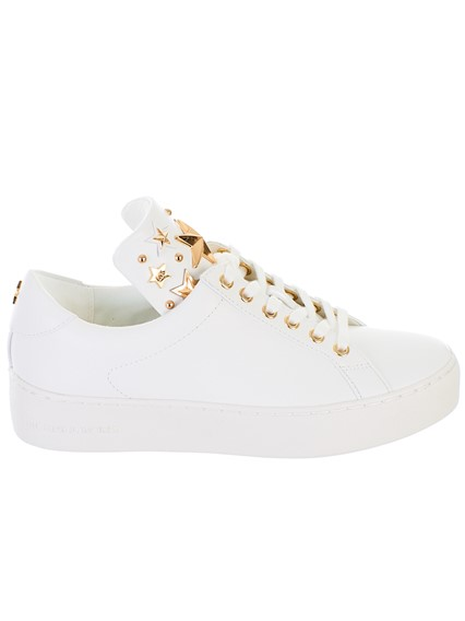 1b398a33442d michael michael kors WHITE MINDY LACE UP SNEAKERS available on ...