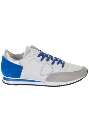 PHILIPPE MODEL - WHITE AND BLUE TROPEZ SNEAKERS