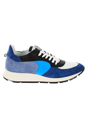 PHILIPPE MODEL - GREY AND BLUE MONTECARLO SNEAKERS