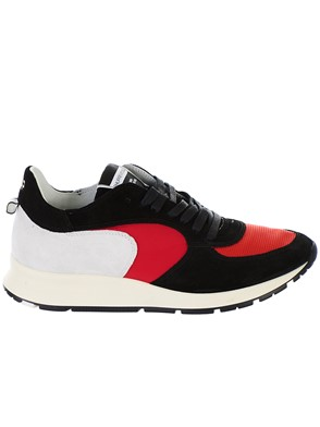 PHILIPPE MODEL - RED AND BLACK MONTECARLO SNEAKERS