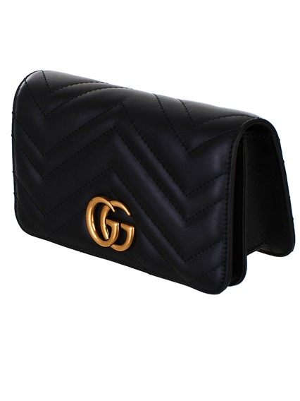 c9a3767f484858 gucci BLACK SUPERMINI GG MARMONT BAG available on lungolivigno.com ...