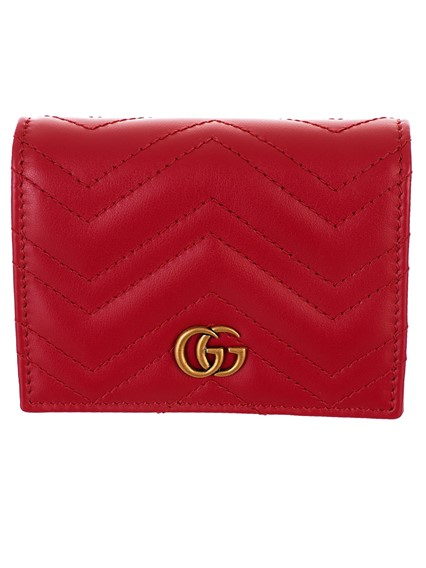 67ba7f0e5ff gucci RED GG MARMONT CARD HOLDER available on lungolivigno.com - 27792