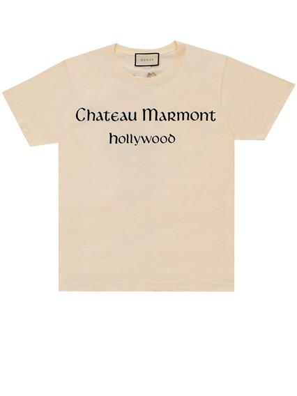 e8e399e2736 gucci IVORY T-SHIRT CHATEAU MARMONT available on lungolivigno.com ...