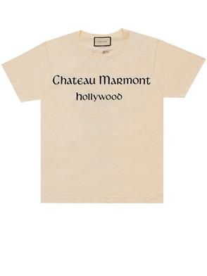 GUCCI - IVORY T-SHIRT CHATEAU MARMONT