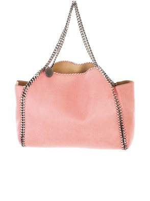 STELLA McCARTNEY - PINK AND BEIGE REVERSIBLE FALABELLA BAG