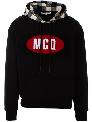 McQ BY ALEXANDER MCQUEEN - BLACK HOODED SWEATSHIRT