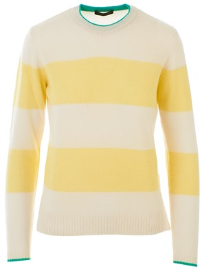 ROBERTO COLLINA - CREAM AND YELLOW SWEATER