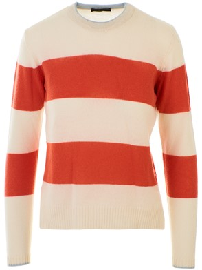 ROBERTO COLLINA - CREAM AND ORANGE SWEATER