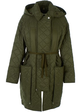 BURBERRY - GREEN COLERAINE DOWN JACKET