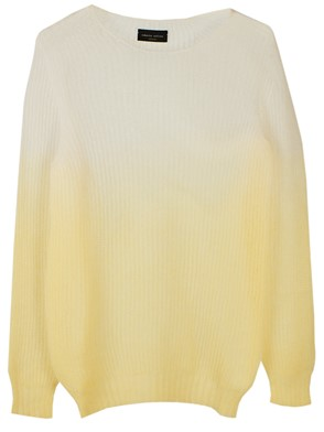ROBERTO COLLINA - YELLOW CREW NECK SWEATER