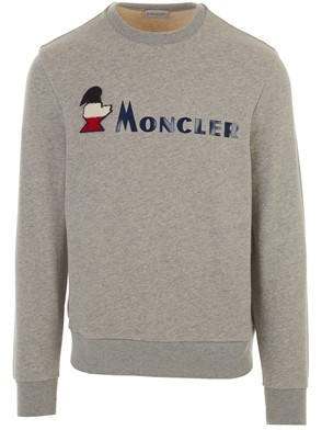 MONCLER - GREY CREW NECK SWEATSHIRT