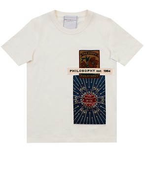 PHILOSOPHY BY LORENZO SERAFINI - T-SHIRT BIANCA