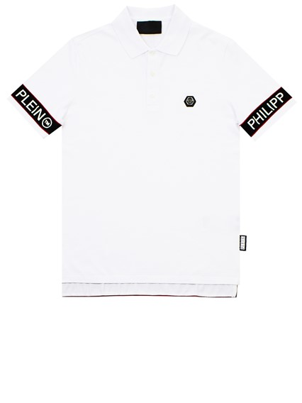 PHILIPP PLEIN WHITE SS STATEMENT POLO SHIRT
