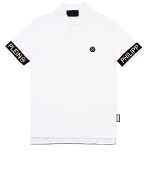 PHILIPP PLEIN - WHITE SS STATEMENT POLO SHIRT